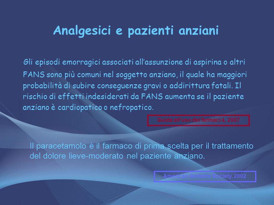 Analgesici e pazienti anziani