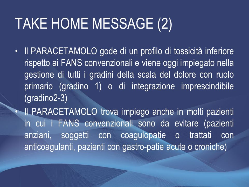 TAKE HOME MESSAGE (2)