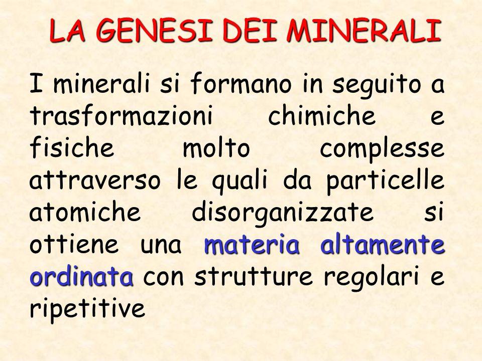 LA GENESI DEI MINERALI