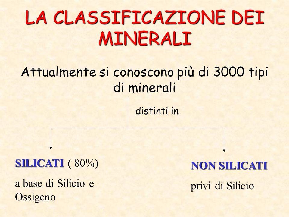 LA CLASSIFICAZIONE DEI MINERALI
