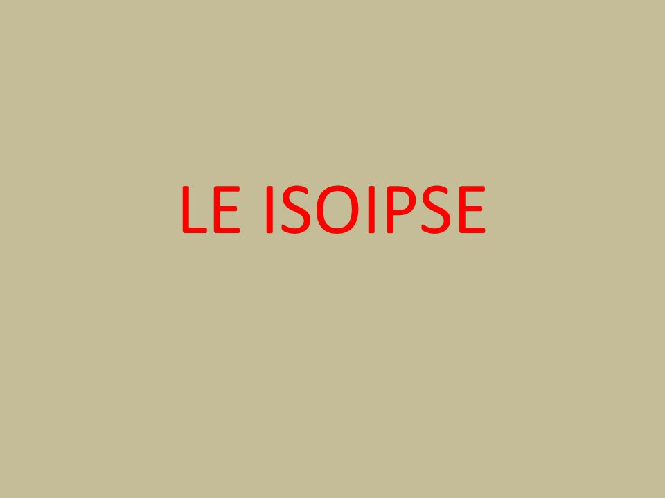 LE ISOIPSE