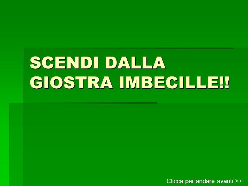 SCENDI DALLA GIOSTRA IMBECILLE!!
