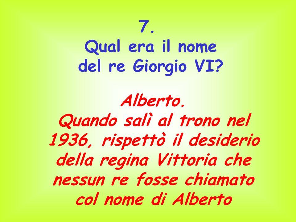 Qual era il nome del re Giorgio VI