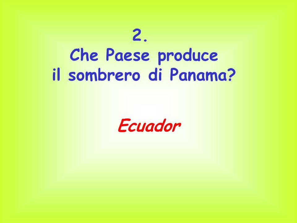 Che Paese produce il sombrero di Panama