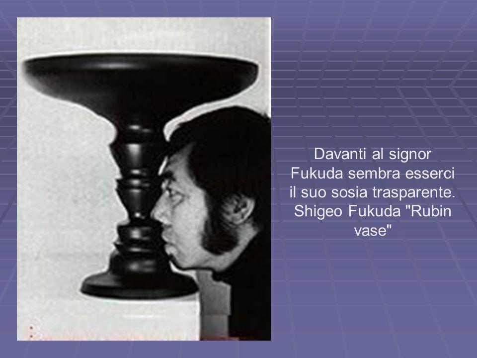 Davanti al signor Fukuda sembra esserci il suo sosia trasparente