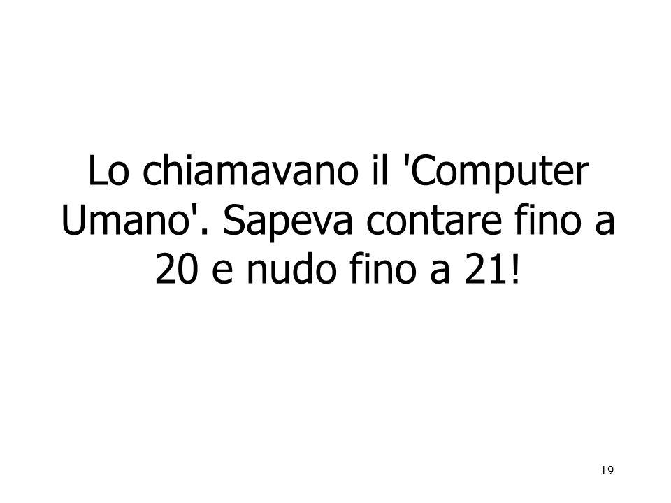 Lo chiamavano il Computer Umano