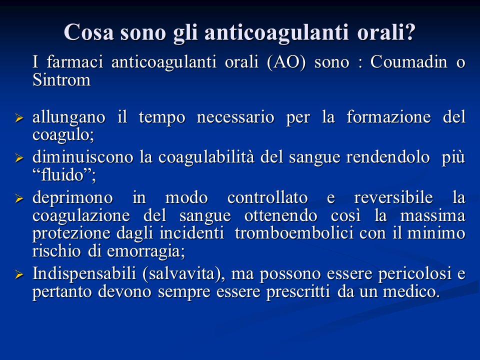 Cosa sono gli anticoagulanti orali