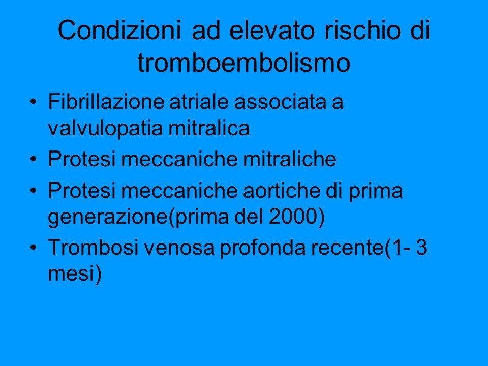 Condizioni ad elevato rischio di tromboembolismo