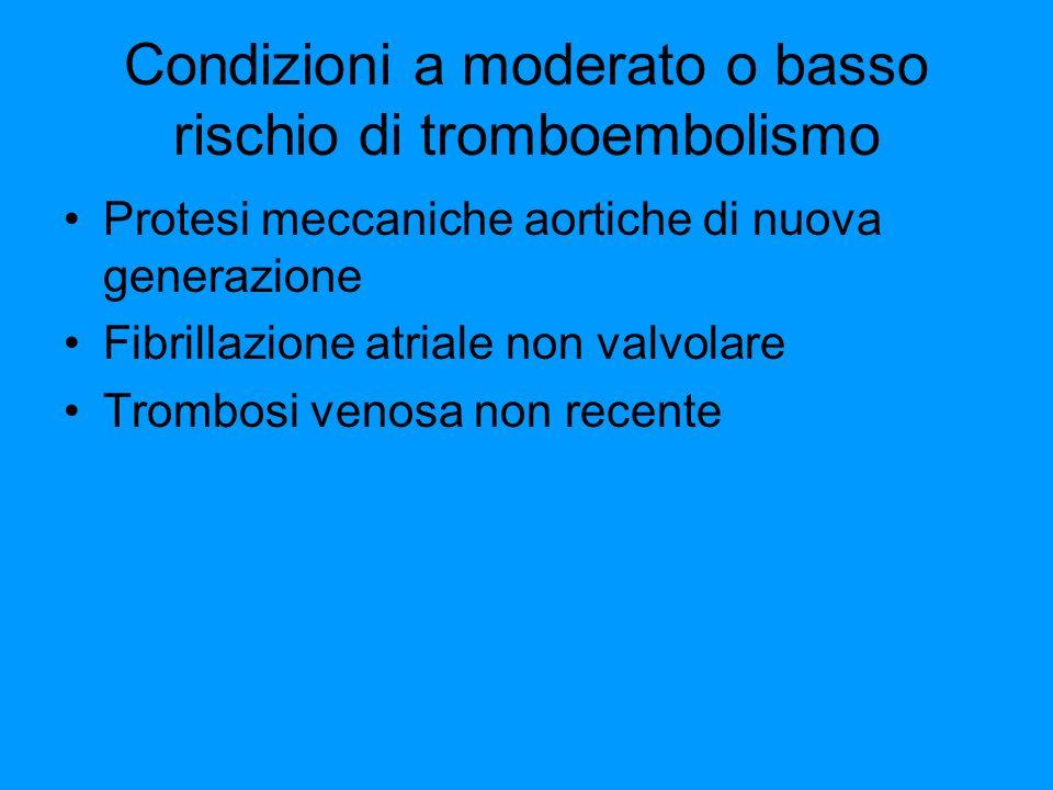 Condizioni a moderato o basso rischio di tromboembolismo