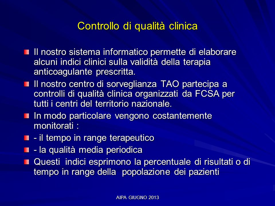 Controllo di qualità clinica