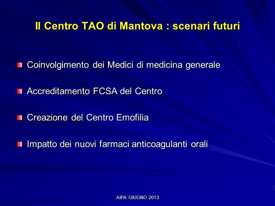 Il Centro TAO di Mantova : scenari futuri