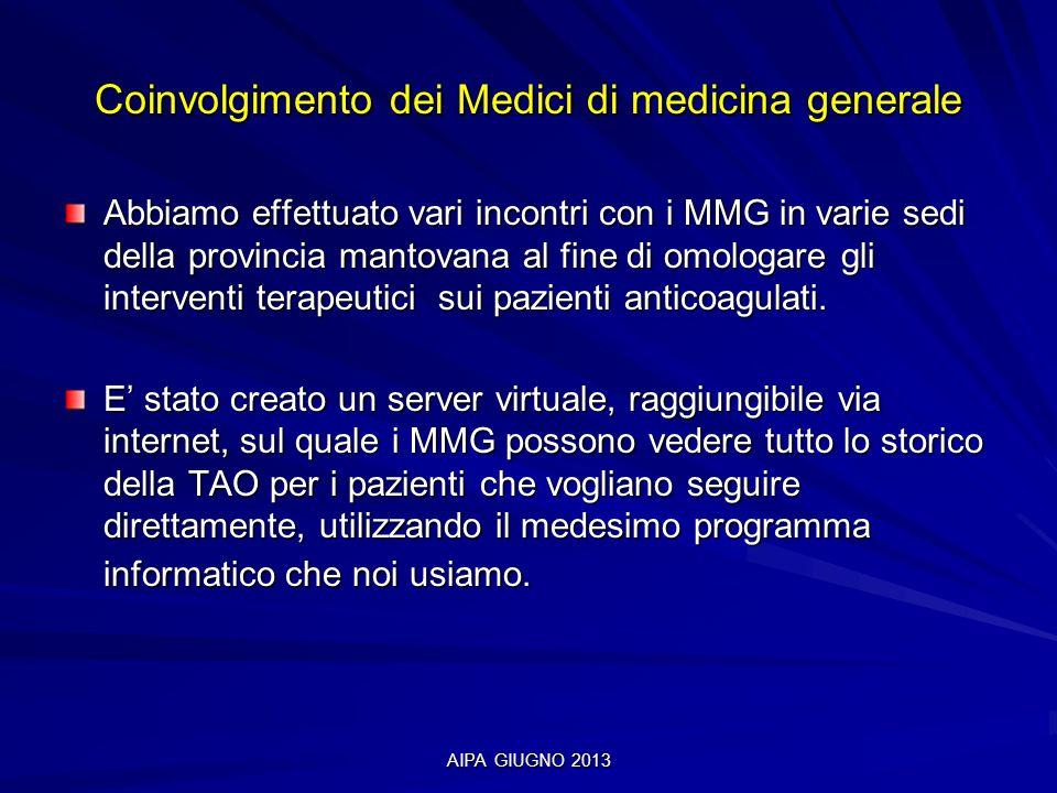 Coinvolgimento dei Medici di medicina generale