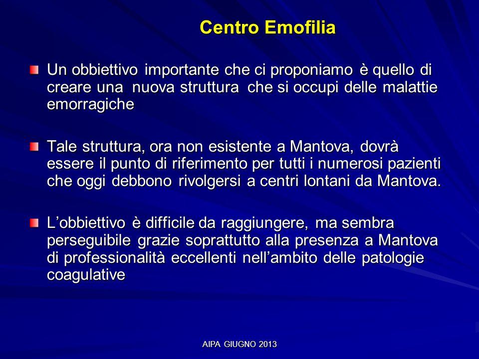 Centro Emofilia Un obbiettivo importante che ci proponiamo è quello di creare una nuova struttura che si occupi delle malattie emorragiche.