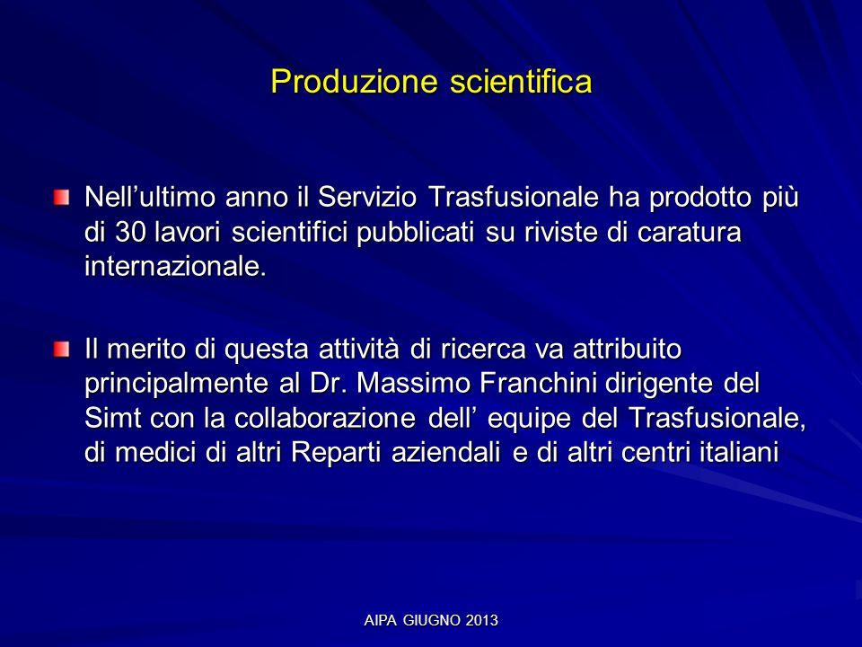 Produzione scientifica
