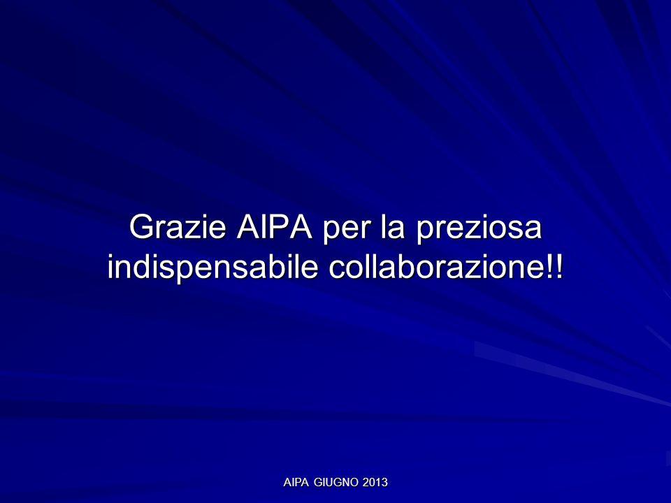 Grazie AIPA per la preziosa indispensabile collaborazione!!