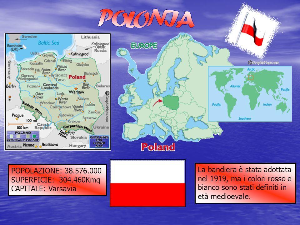 POLONIA POPOLAZIONE: 38.576.000. SUPERFICIE: 304.460Kmq. CAPITALE: Varsavia.