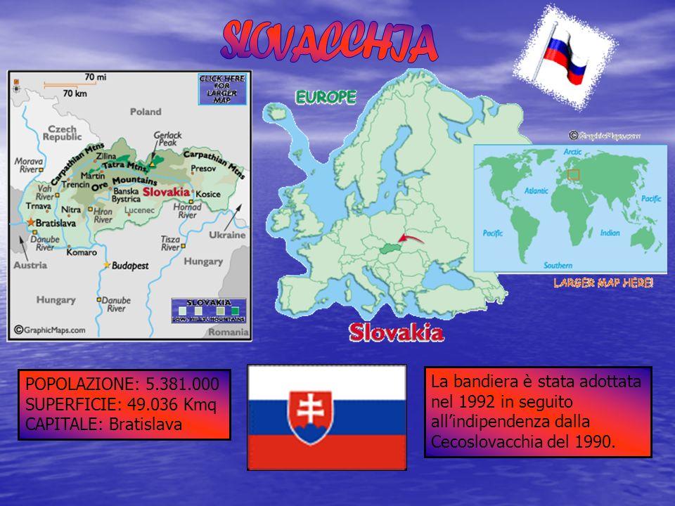 SLOVACCHIA POPOLAZIONE: 5.381.000. SUPERFICIE: 49.036 Kmq. CAPITALE: Bratislava.