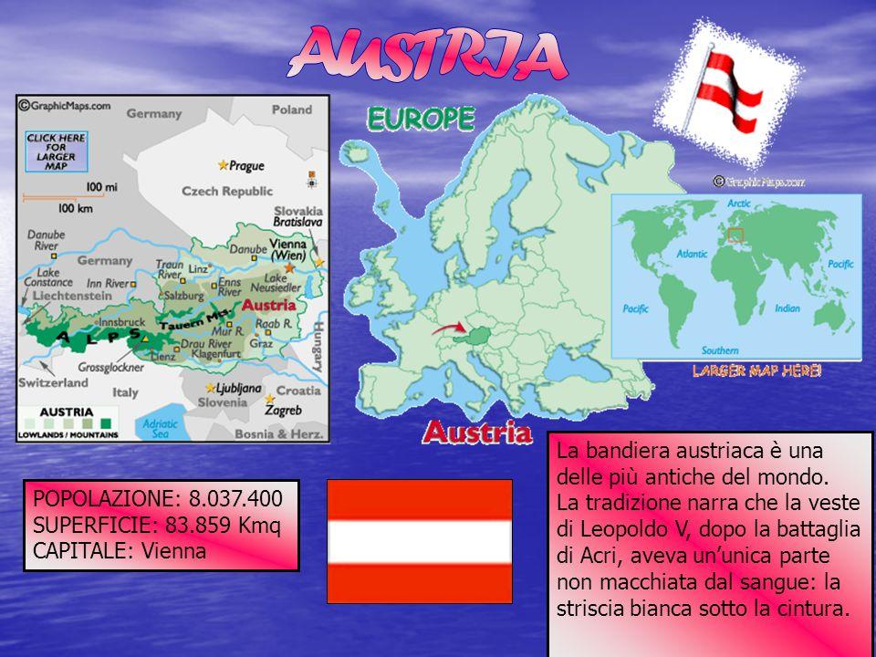 AUSTRIA La bandiera austriaca è una delle più antiche del mondo.