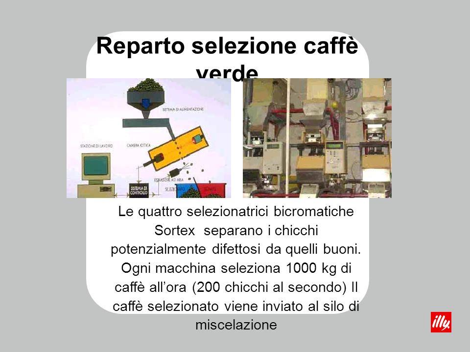 Reparto selezione caffè verde