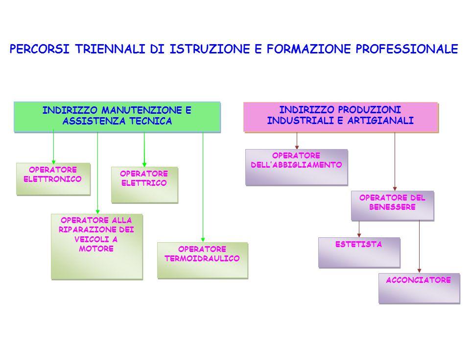 PERCORSI TRIENNALI DI ISTRUZIONE E FORMAZIONE PROFESSIONALE