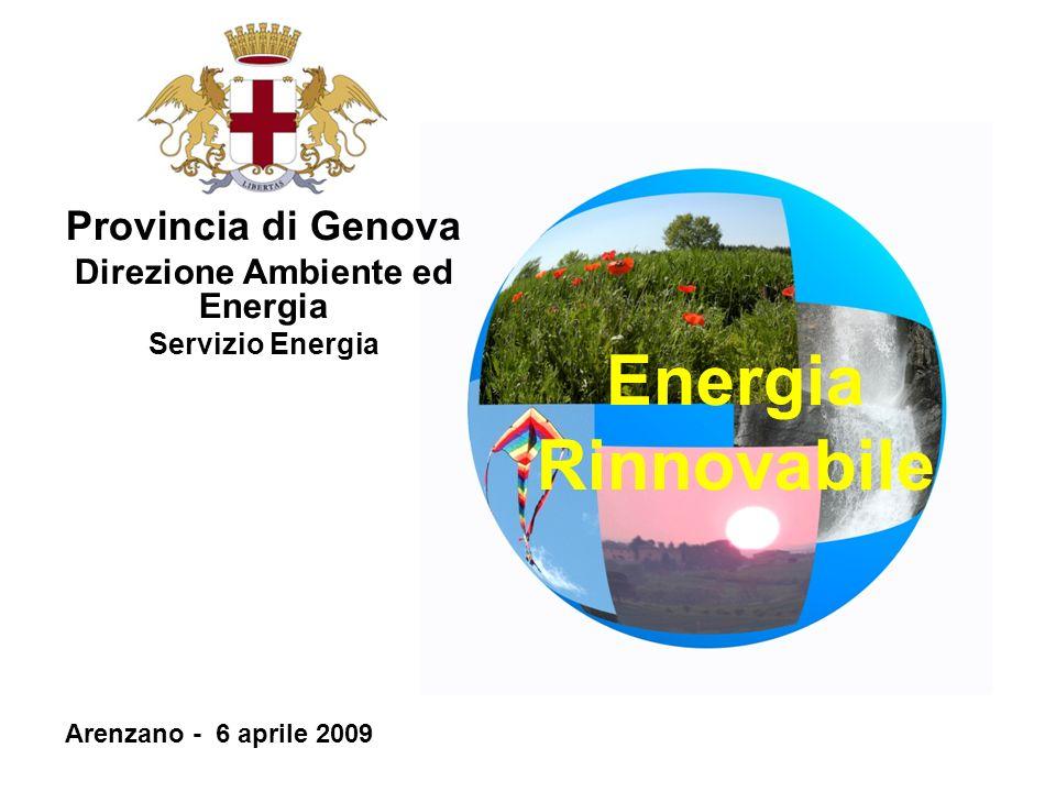 Provincia di Genova Direzione Ambiente ed Energia Servizio Energia