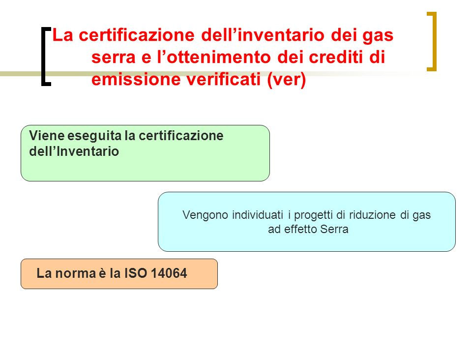 Vengono individuati i progetti di riduzione di gas