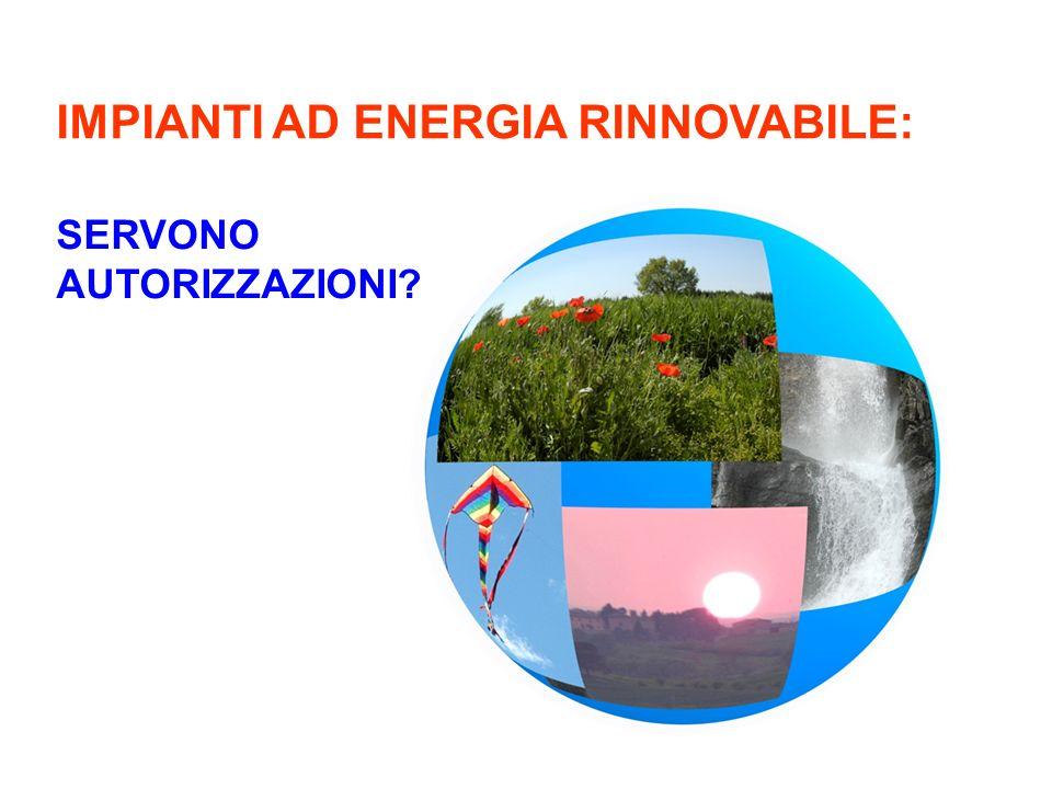 IMPIANTI AD ENERGIA RINNOVABILE: