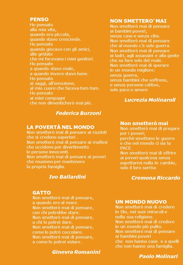 I POETI DI DOMANI CLASSE V B ANNO SCOLASTICO 2005/2006