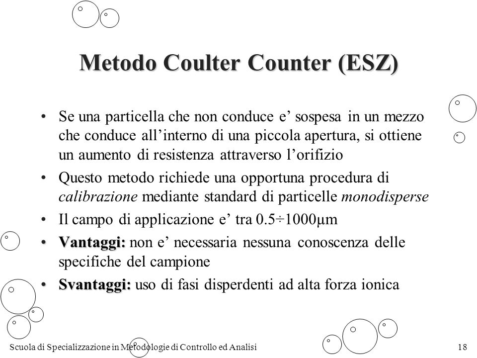 Metodo Coulter Counter (ESZ)