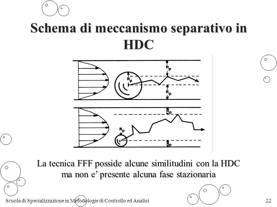 Schema di meccanismo separativo in HDC