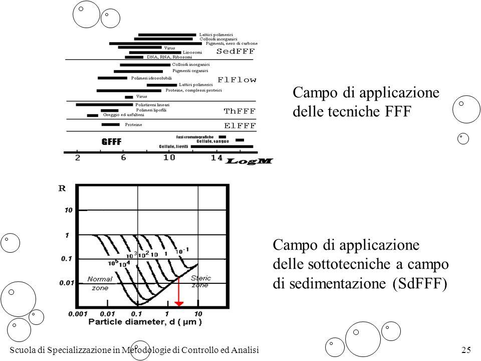 Campo di applicazione delle tecniche FFF. Campo di applicazione.