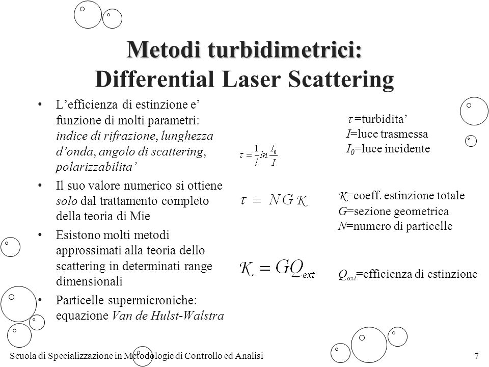 Metodi turbidimetrici: Differential Laser Scattering