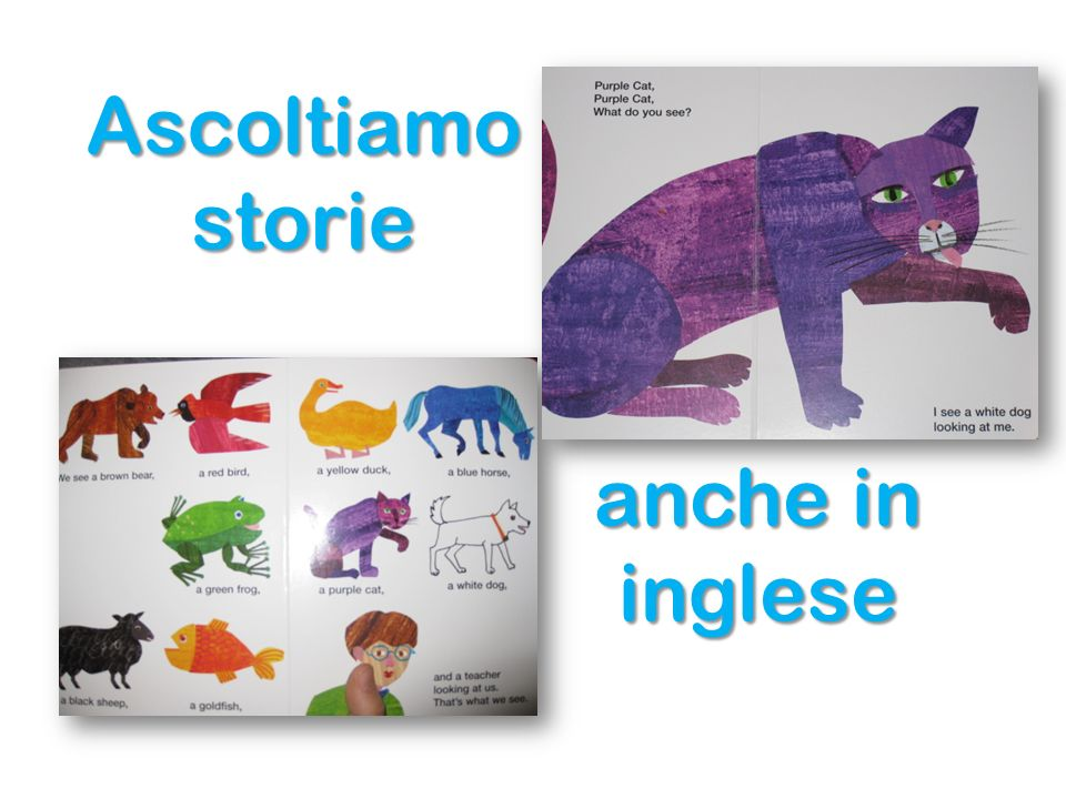 Ascoltiamo storie anche in inglese