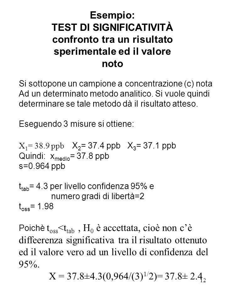 TEST DI SIGNIFICATIVITÀ