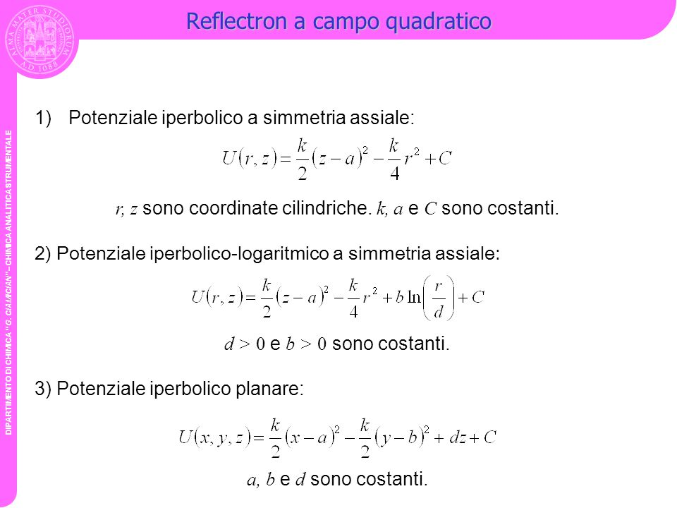 Reflectron a campo quadratico