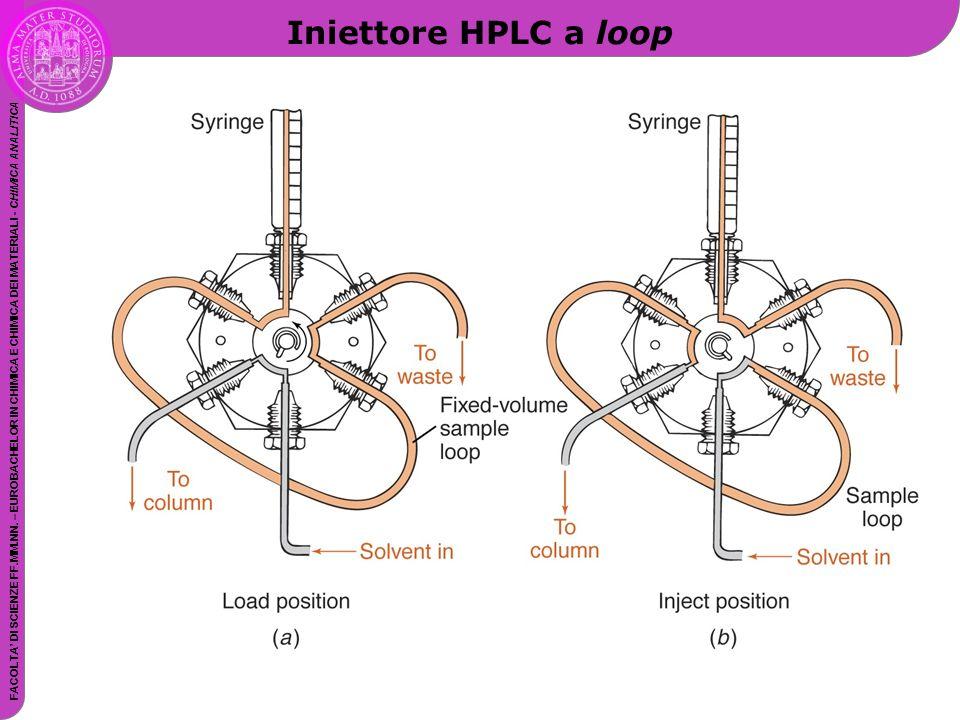 Iniettore HPLC a loop