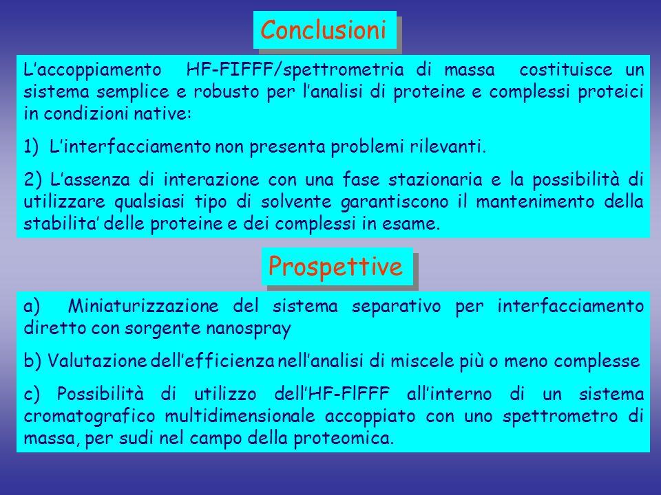 Conclusioni Prospettive