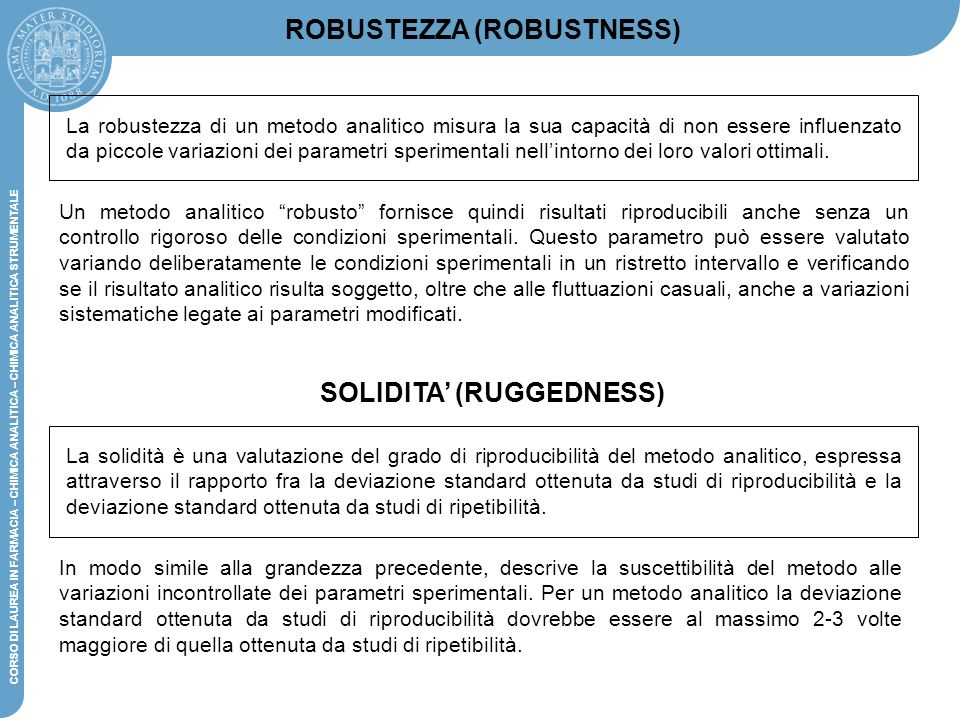 ROBUSTEZZA (ROBUSTNESS) SOLIDITA' (RUGGEDNESS)