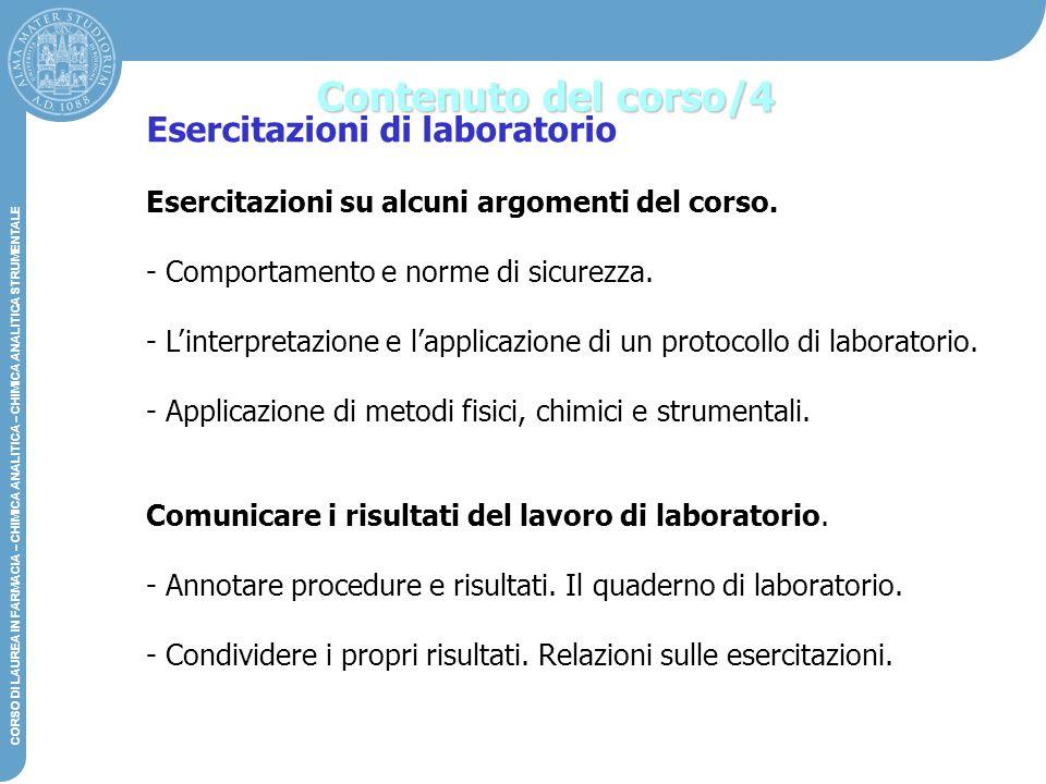 Contenuto del corso/4 Esercitazioni di laboratorio