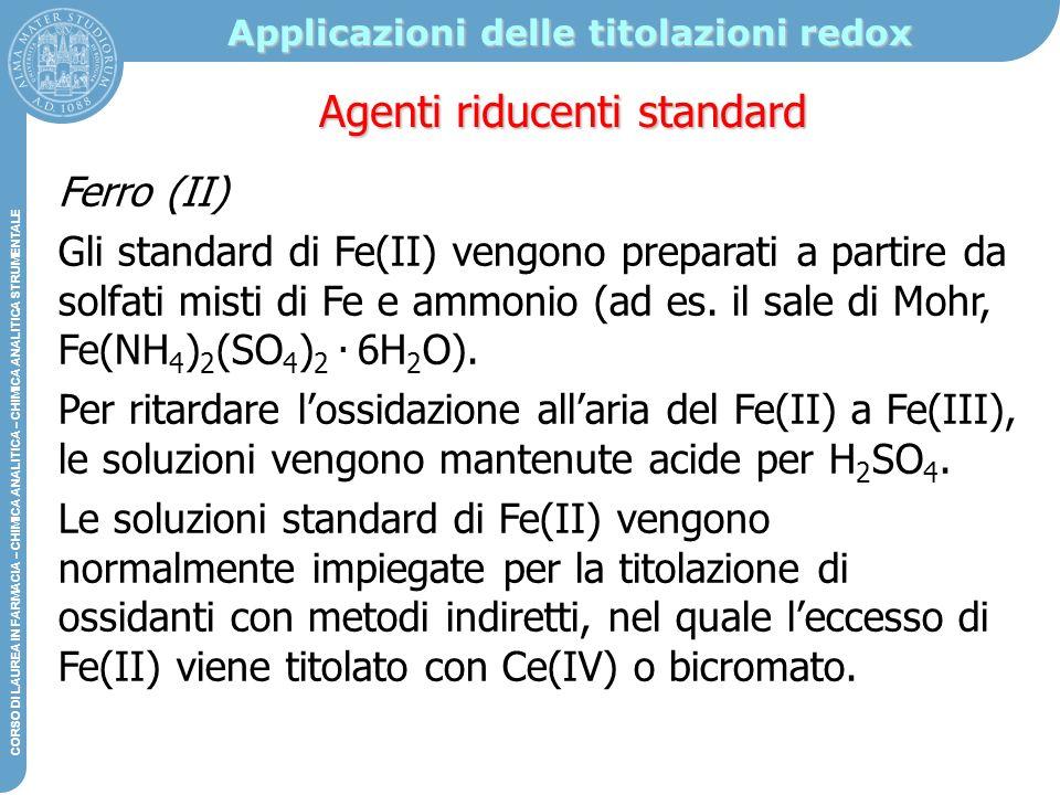 Applicazioni delle titolazioni redox