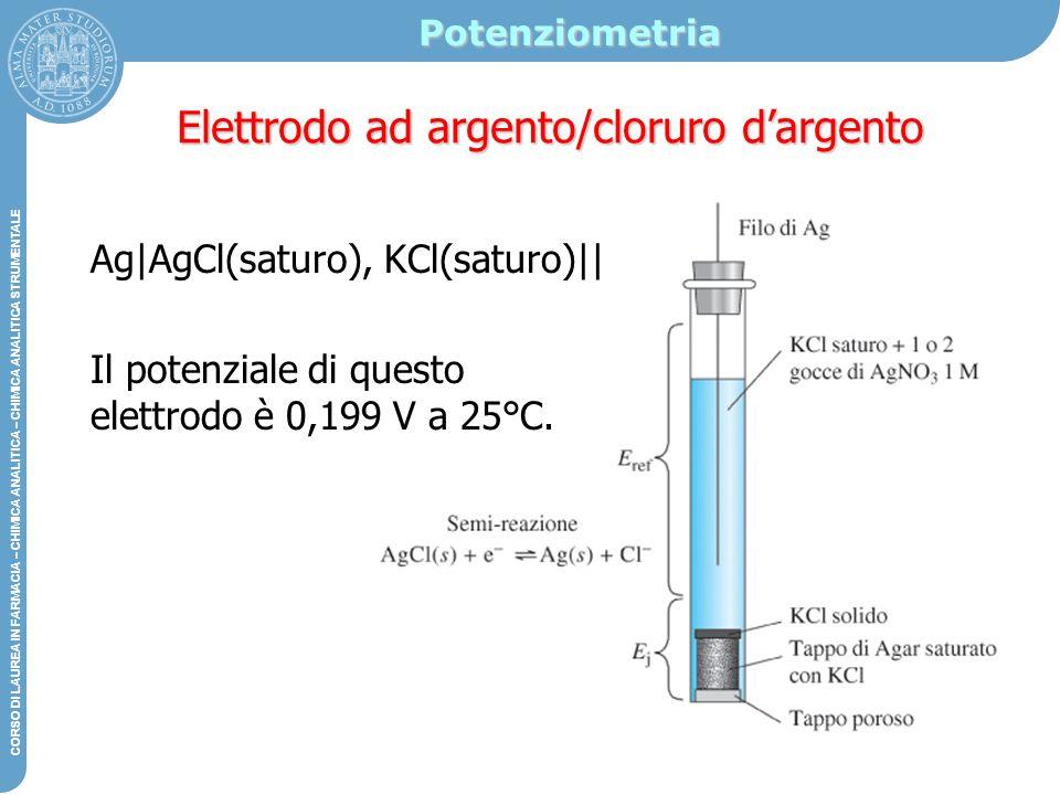 Elettrodo ad argento/cloruro d'argento