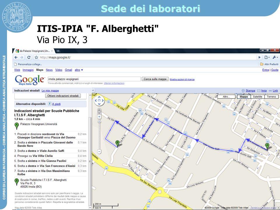 Sede dei laboratori ITIS-IPIA F. Alberghetti Via Pio IX, 3