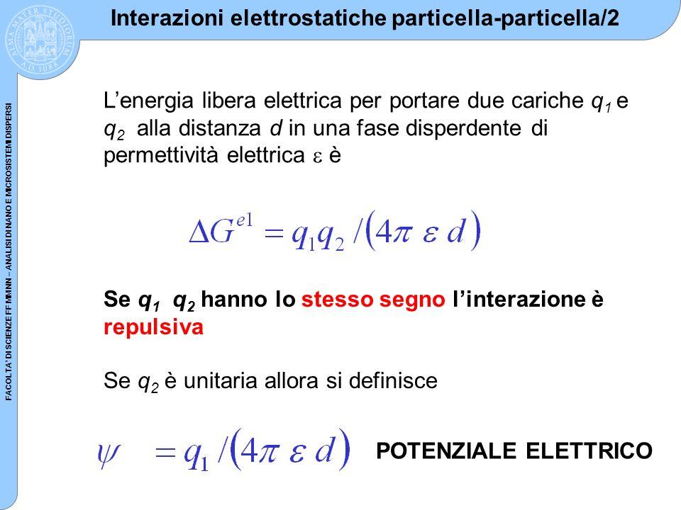 Interazioni elettrostatiche particella-particella/2