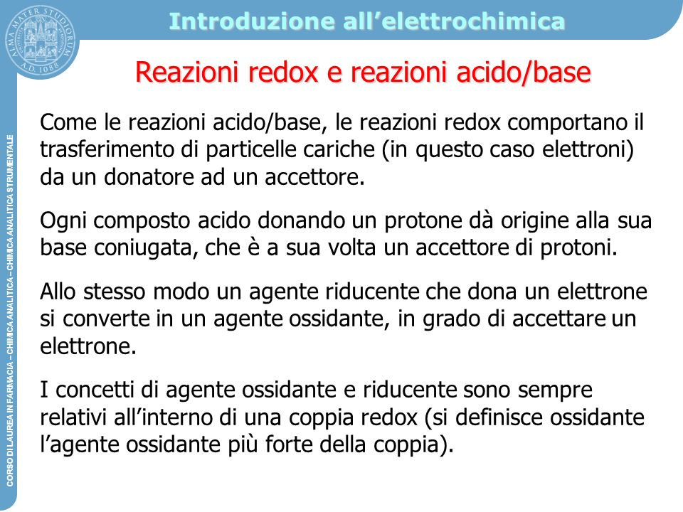 Introduzione all'elettrochimica
