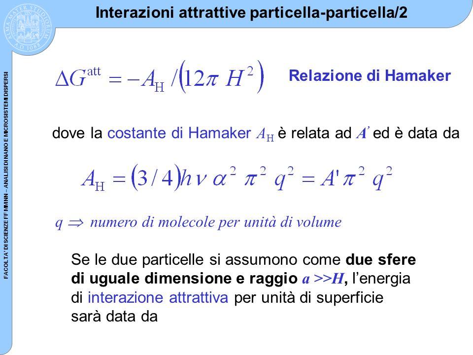Interazioni attrattive particella-particella/2