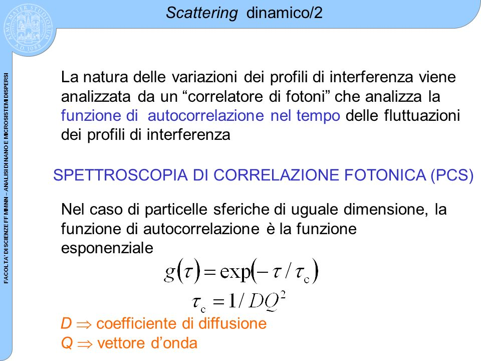 Scattering dinamico/2