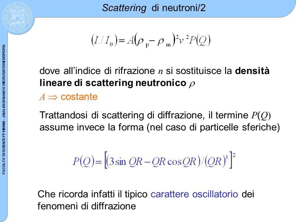Scattering di neutroni/2