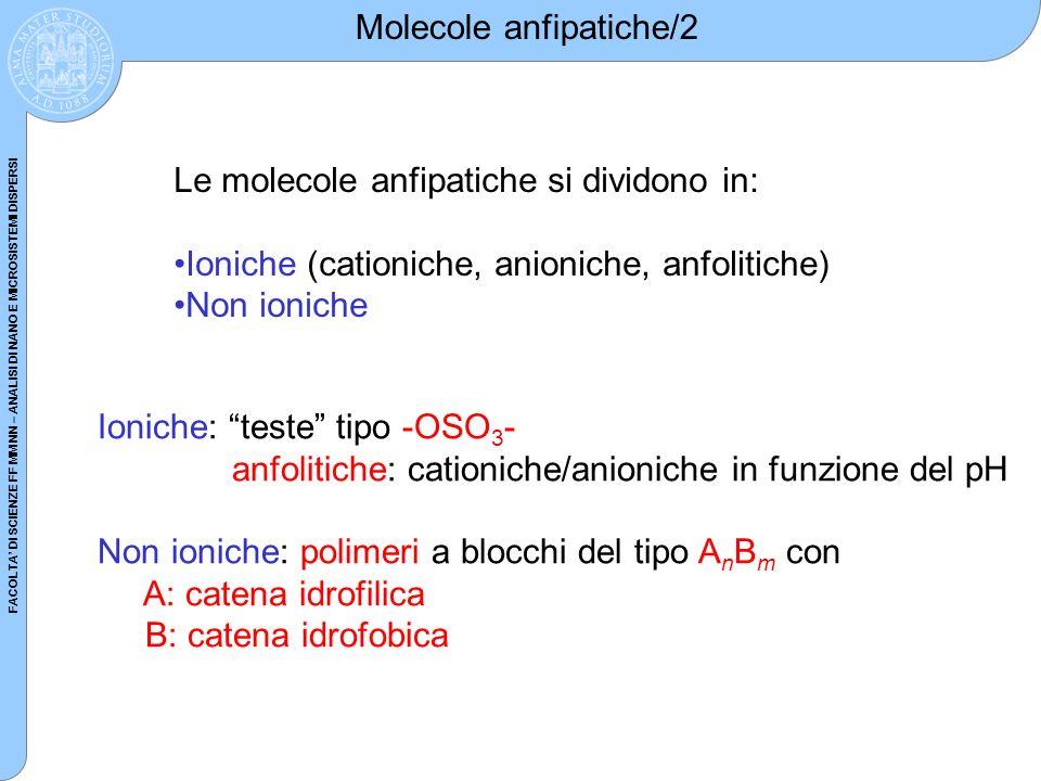 Molecole anfipatiche/2