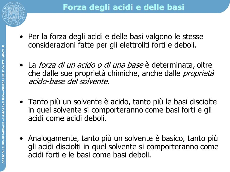 Forza degli acidi e delle basi
