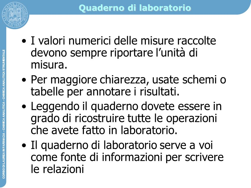 Quaderno di laboratorio